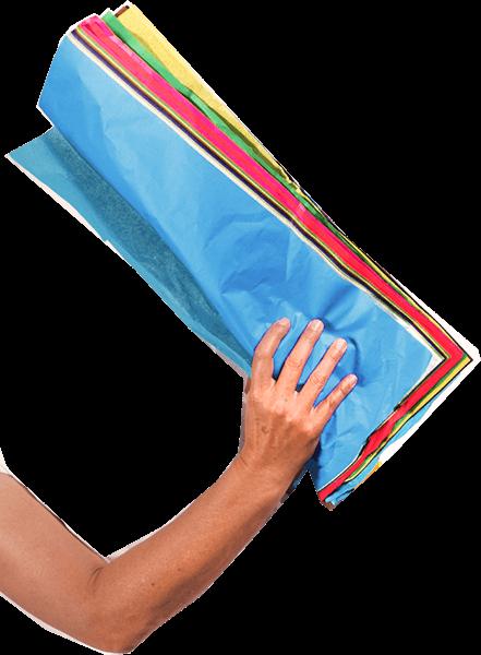 Hand mit Papier